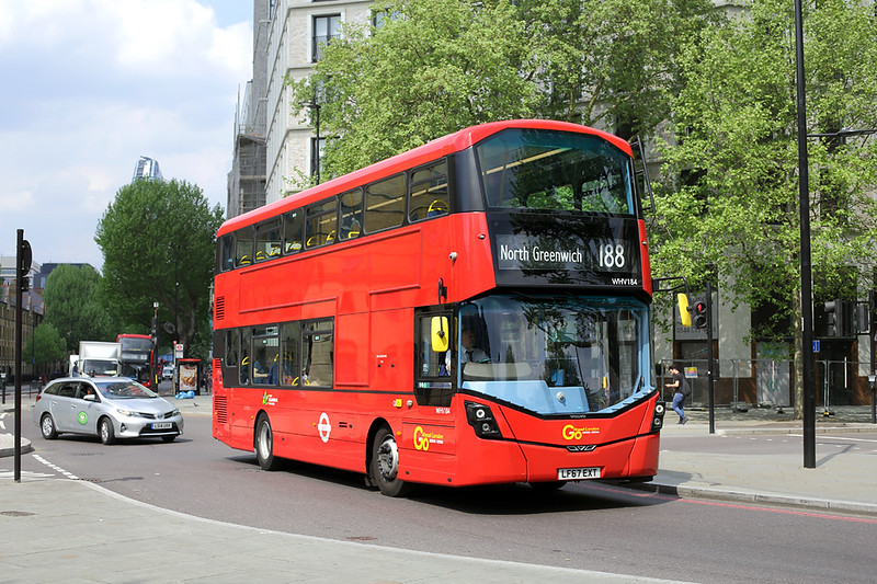 WHV184 LF67EXT, St George's Circus 8/5/2018