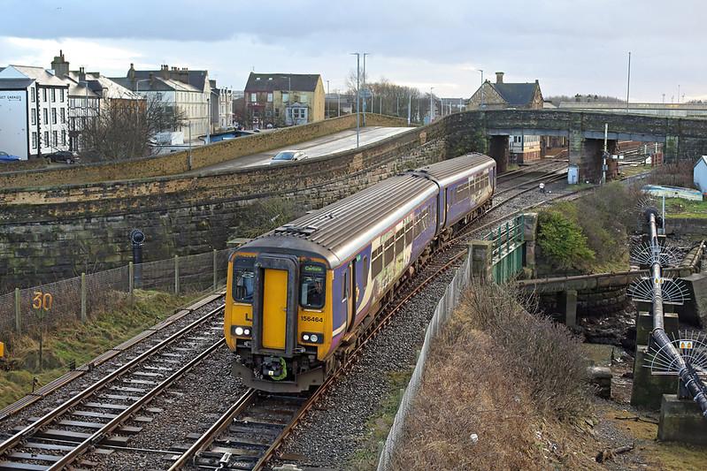 156464 Workington 15/1/2018<br /> 2C37 1219 Lancaster-Carlisle