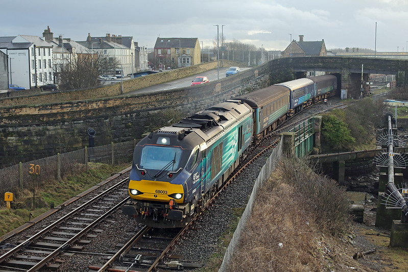 68003 Workington 15/1/2018<br /> 5Z58 1240 Carnforth-Carlisle Kingmoor