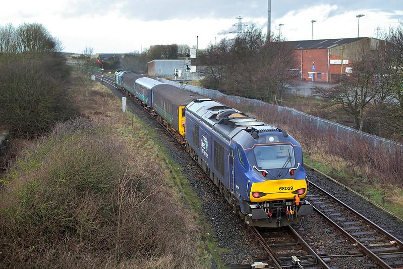 68029 Workington 15/1/2018<br /> 5Z58 1240 Carnforth-Carlisle Kingmoor