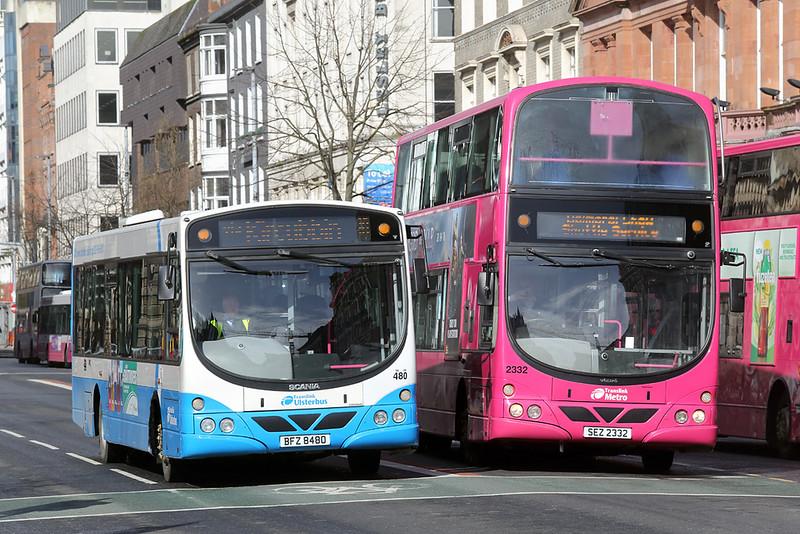 480 BFZ8480 and 2332 SEZ2332, Belfast 17/4/2018