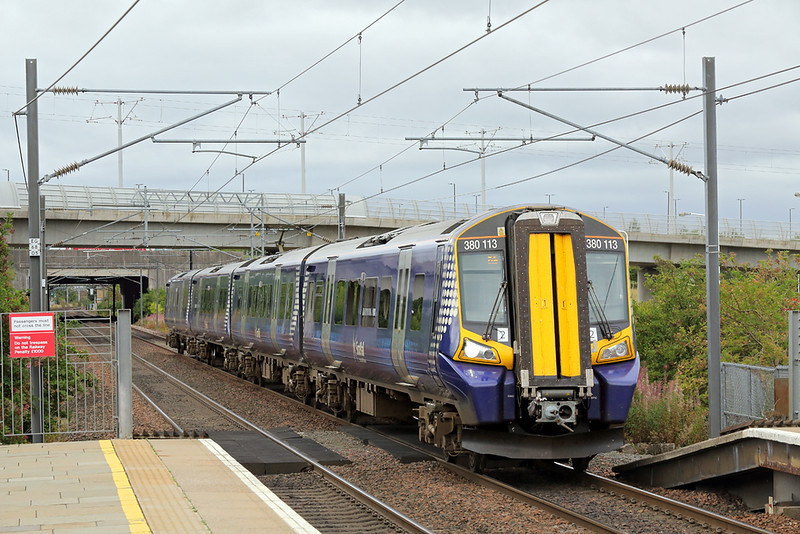 380113 Edinburgh Park 17/8/2018<br /> 1R56 1215 Glasgow Queen Street-Edinburgh