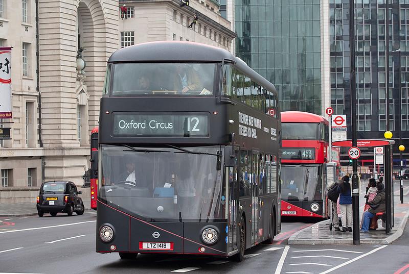 LT418 LTZ1418, Westminster Bridge 20/9/2018
