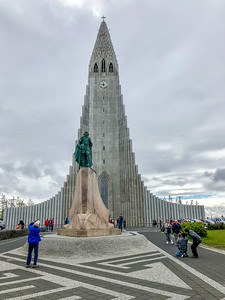 Hallgrimskirkja Church - the local Lutheran church (with a statue of Leif Ericsson in front)
