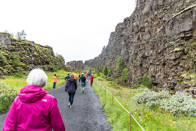Part of the transition zone where the North American and the Eurasian tectonic plates are pulling apart in Thingvellir National Park (was in season 4 of Game of Thrones).