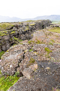 Part of the transition between the North American and the Eurasian tectonic plates in Thingvellir National Park.