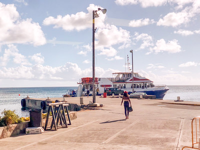 The ferry from St Kitts to Nevis