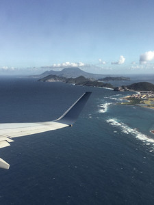 St Kitts in foreground and Nevis in background