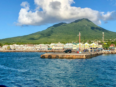 Arriving at Nevis