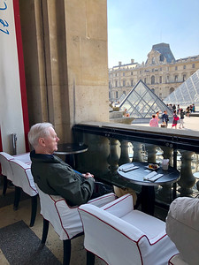 Taking a break at the Louvre