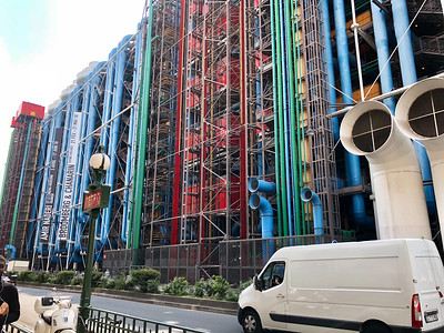 Pompidou Center, where all utilities are on the outside of the building - Paris