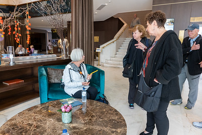 Eileen, Connie, Toni and Lanny at the Intercontinental in Lisbon
