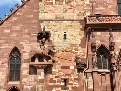 St George & dragon, Basel Cathedral