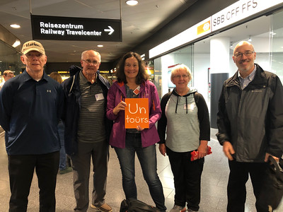 Frank, Doris, Linda and Brian in Zurich airport