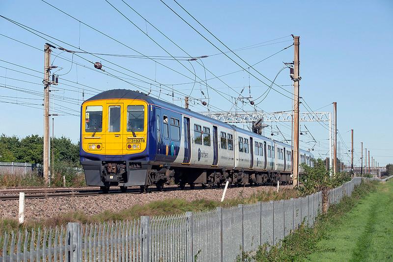 319378 Farington 2/10/2019<br /> 1Y57 0958 Blackpool North-Manchester Airport