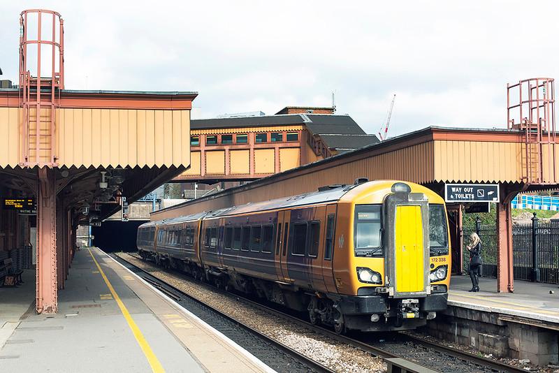 172338 Birmingham Moor Street 10/4/2019<br /> 2S18 0854 Stourbridge Junction-Stratford upon Avon