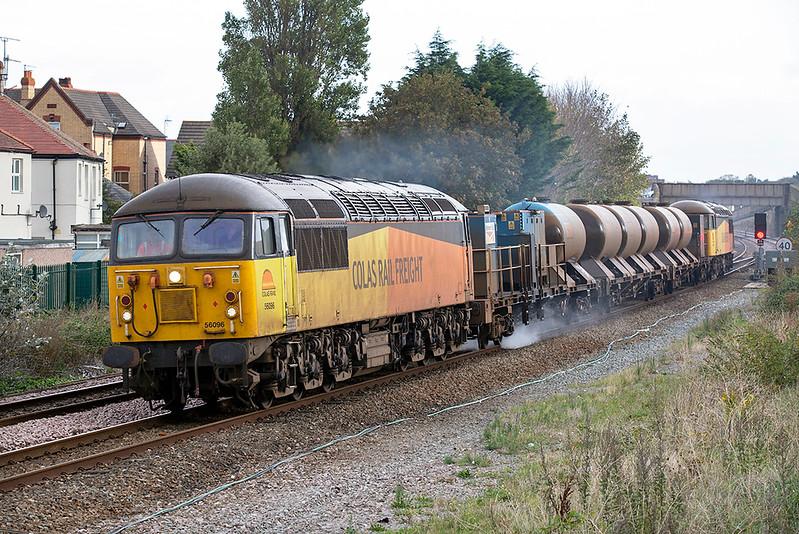 56096 and 56090, Rhyl 10/10/2019<br /> 3S71 2120 Shrewbury-Shrewsbury <br /> (via Machynlleth, Shrewsbury, Craven Arms, Bidston, Shrewsbury, Crewe, Holyhead, Crewe)