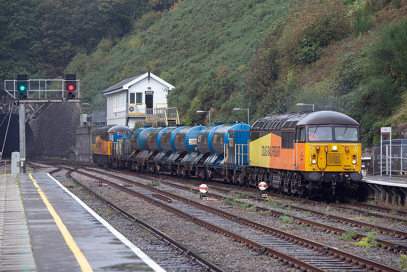 56090 and 56096, Bangor 10/10/2019<br /> 3S71 2120 Shrewbury-Shrewsbury <br /> (via Machynlleth, Shrewsbury, Craven Arms, Bidston, Shrewsbury, Crewe, Holyhead, Crewe)