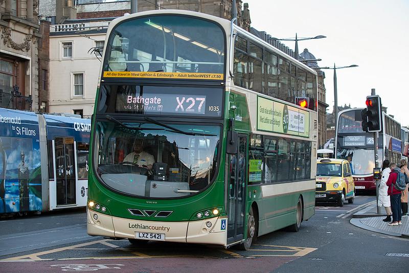 1035 LXZ5421, Edinburgh 13/1/2019