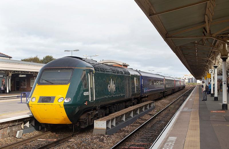 43005 and 43191, Taunton 16/9/2019<br /> 2C81 1500 Cardiff Central-Taunton