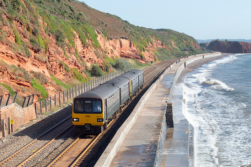 143611 and 143621, Dawlish 19/9/2019<br /> 2T10 0923 Exmouth-Paignton