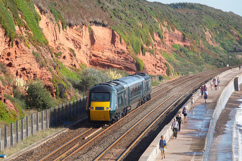 43194 and 43188, Dawlish 19/9/2019<br /> 5Z74 0930 Laira TMD-St Phillips Marsh TMD