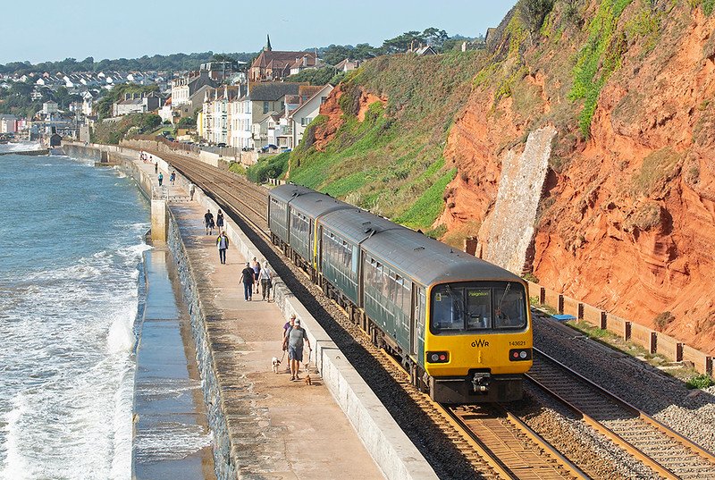 143621 and 143611, Dawlish 19/9/2019<br /> 2T10 0923 Exmouth-Paignton
