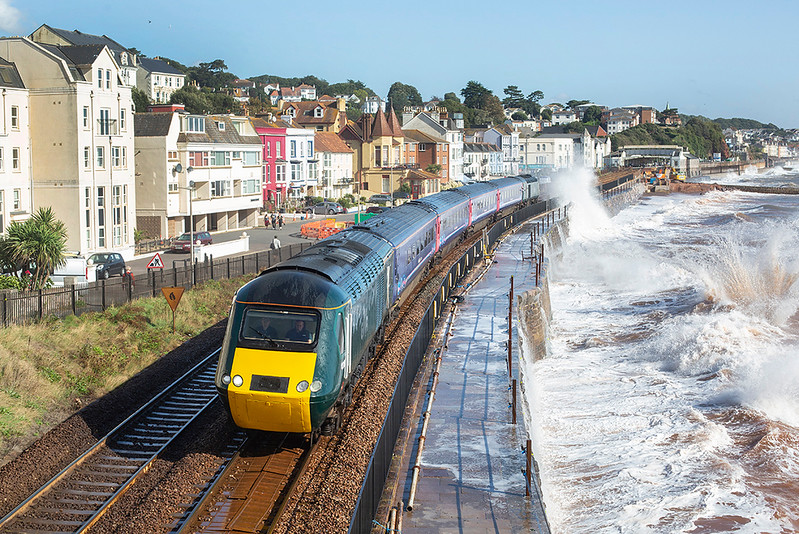 43186 and 43198, Dawlish 20/9/2019<br /> 2C67 0800 Cardiff Central-Paignton