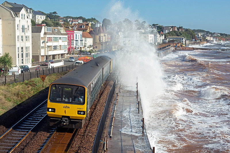 143617 and 143603, Dawlish 20/9/2019<br /> 2T10 0923 Exmouth-Paignton