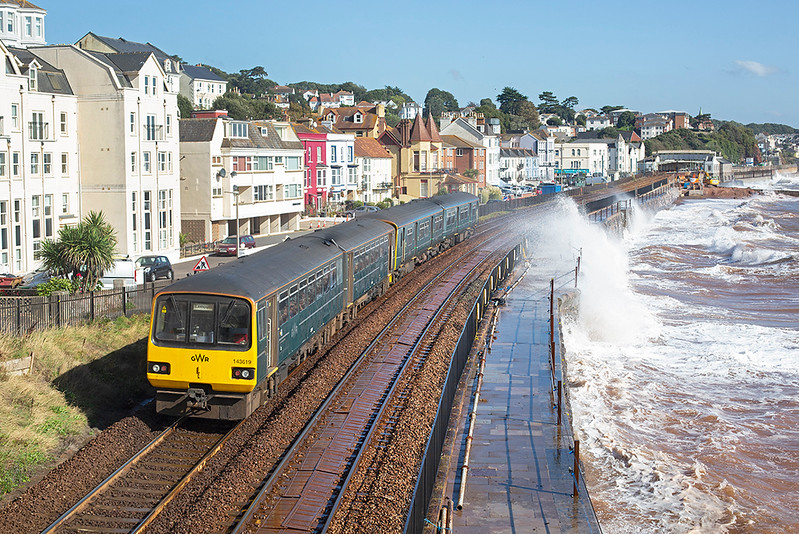 143619 and 150233, Dawlish 20/9/2019<br /> 2F21 1021 Paignton-Exmouth