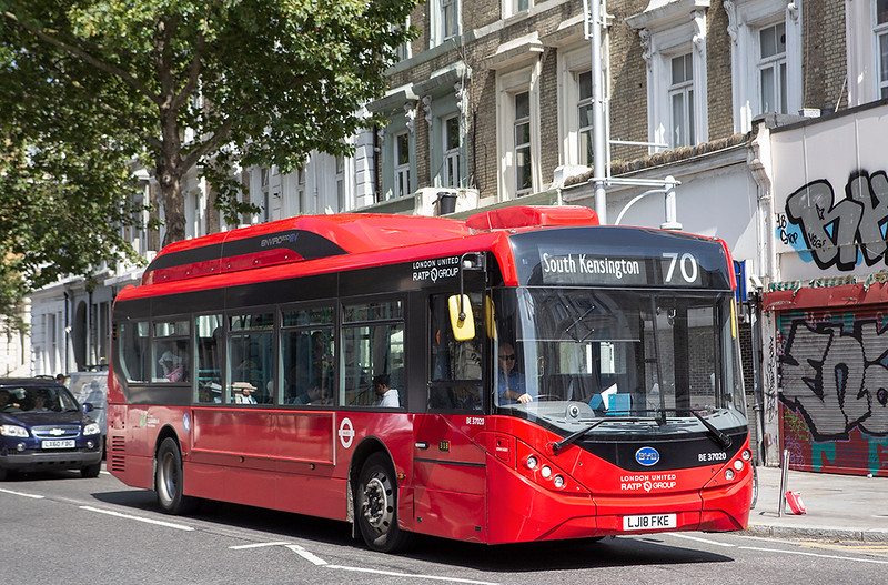 BE37020 LJ18FKE, Ladbroke Grove 21/8/2019