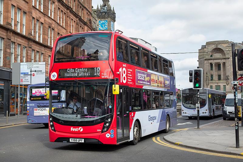 33254 YX68UPF, Glasgow 25/6/2019