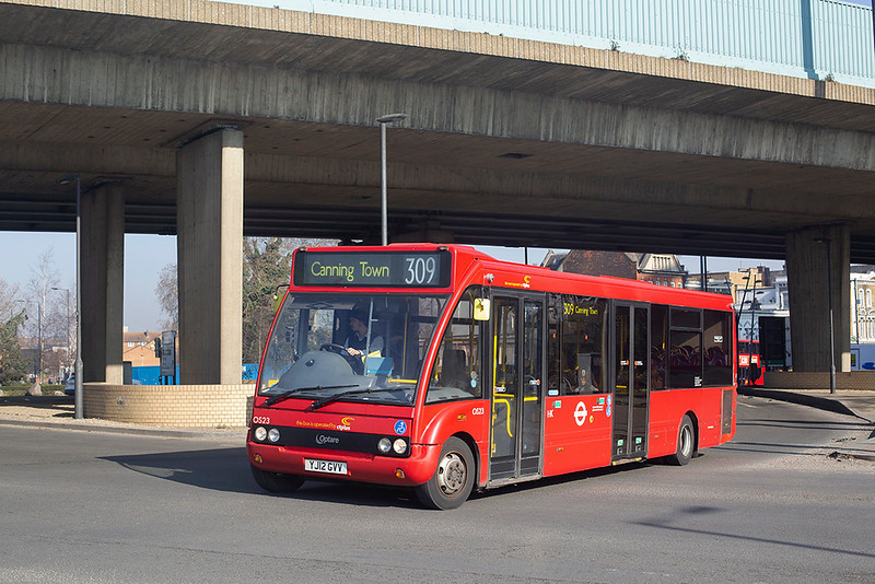 OS23 YJ12GVV, Canning Town 27/2/2019