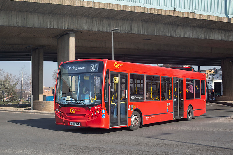 SE107 YX61BWD, Canning Town 27/2/2019