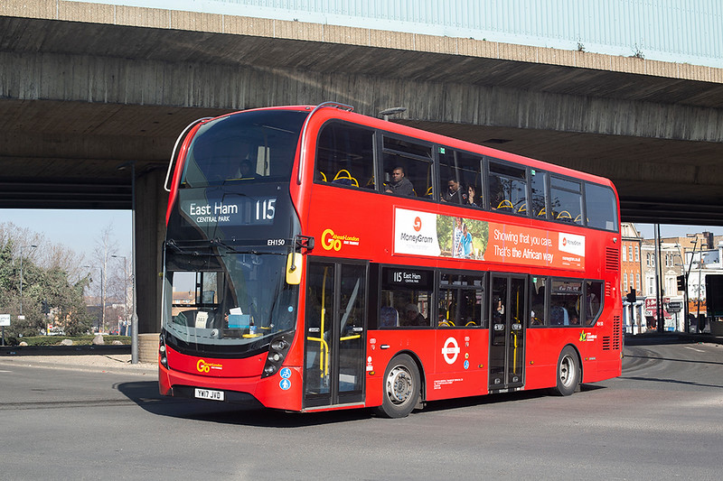 EH150 YW17JVD, Canning Town 27/2/2019