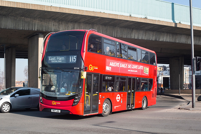 EH144 YW17JUU, Canning Town 27/2/2019