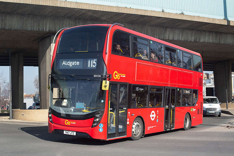 EH134 YW17JTZ, Canning Town 27/2/2019
