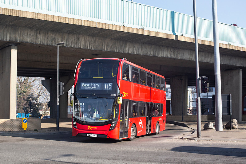 EH136 YW17JUC, Canning Town 27/2/2019