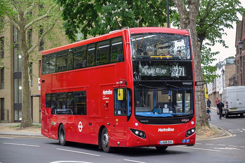 VMH2557 LA68DXL, Highbury & Islington 28/4/2019