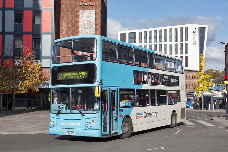 4403 BV52OBU, Coventry 29/10/2019
