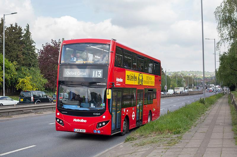 VMH2446 LK18AGV, Hendon 30/4/2019