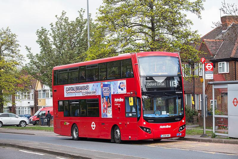 VMH2496 LK18AKF, Brent Cross 30/4/2019