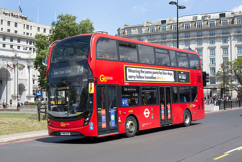 EH98 YY66OZD, Marble Arch 5/7/2020