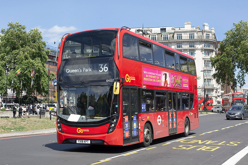 EH227 YX18KPT, Marble Arch 5/7/2020