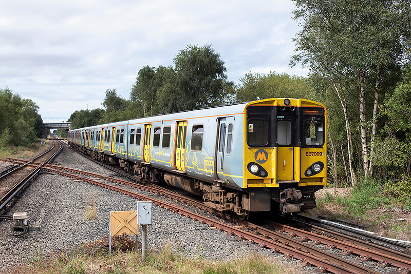 507009 and 508123, Bidston 7/8/2020<br /> 2W23 1201 West Kirby=west Kirby (via Liverpool Central)