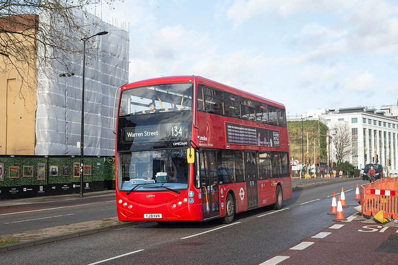 OME2660 YJ19HVN, Hampstead Road 9/1/2020