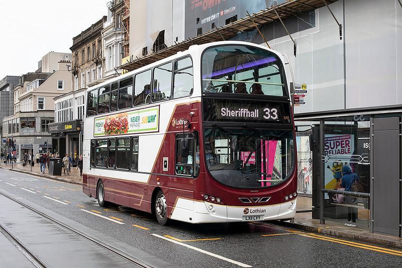 1142 LX11CVY, Edinburgh 11/9/2020