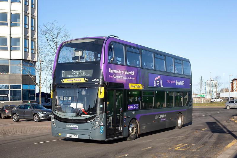 6963 YX68USO, Coventry 12/2/2020