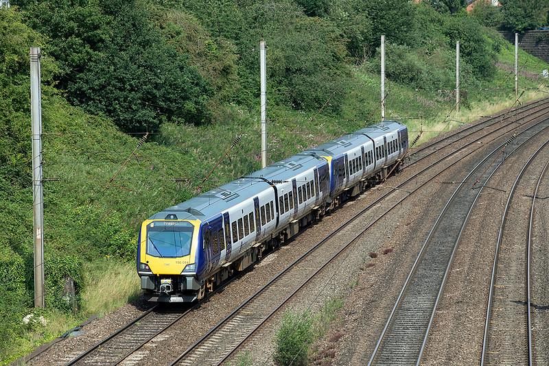 195014 and 195011, Penwortham 14/8/2020<br /> 1B21 0957 Leeds-Preston