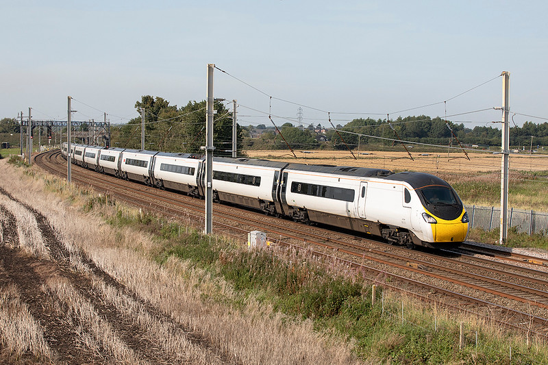390131 Winwick Junction 15/9/2020<br /> 9M55 1417 Preston-London Euston